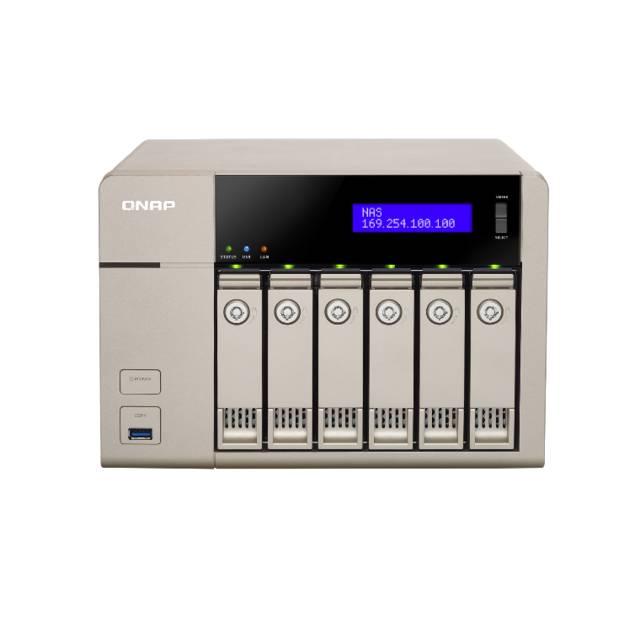 QNAP TVS-663-US AMD X86 2 4GHz/ 4GB RAM/ 2GbE/ 6SATA3/ USB3
